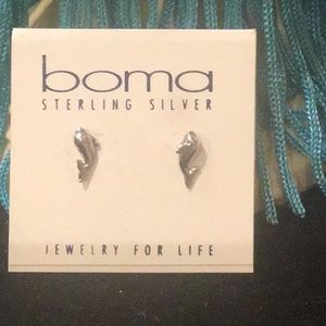 Boma Girls sterling silver stud earrings 3 choices
